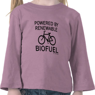 Powered By Renewable Biofuel T-shirts