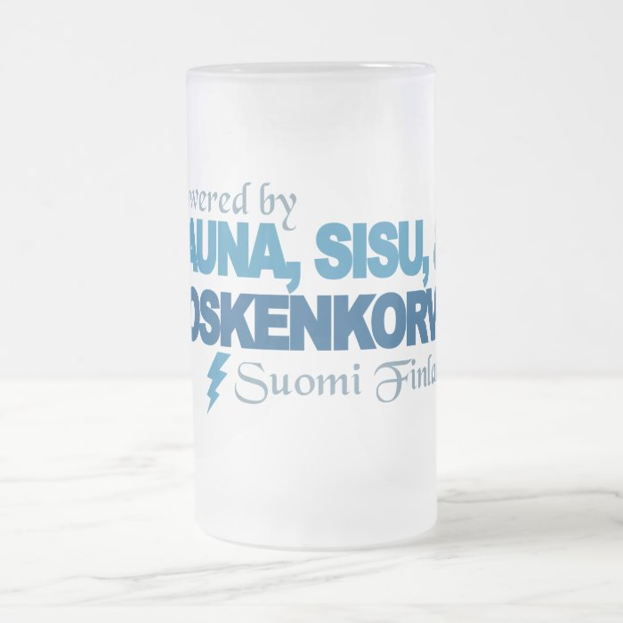 Powered by Sauna, Sisu & Kossu mug