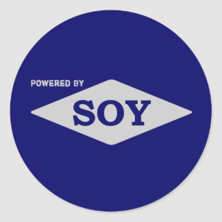 Powered by Soy sticker