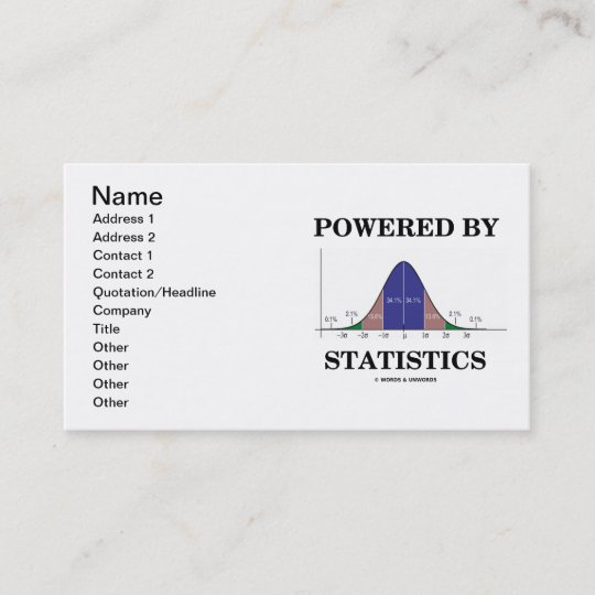 Powered by statistics bell curve attitude business card zazzle powered by statistics bell curve attitude business card colourmoves