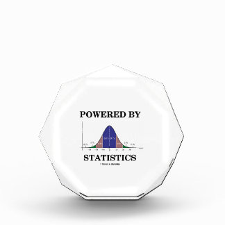 Powered By Statistics (Bell Curve Humor) Acrylic Award