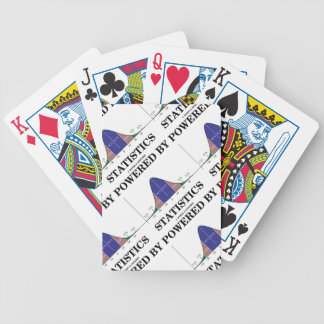Powered By Statistics (Bell Curve Humor) Bicycle Playing Cards