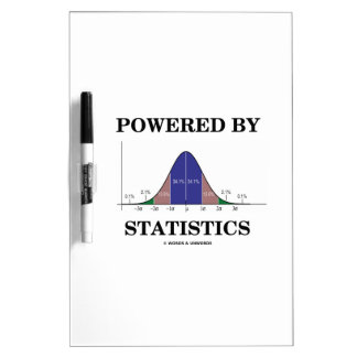 Powered By Statistics (Bell Curve Humor) Dry Erase Board