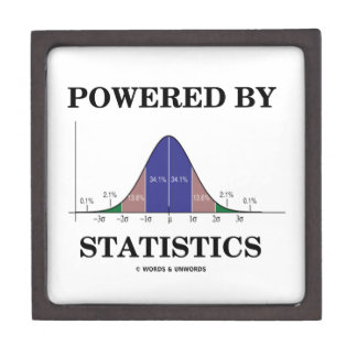 Powered By Statistics (Bell Curve Humor) Jewelry Box