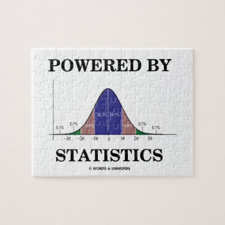 Powered By Statistics (Bell Curve Humor) Jigsaw Puzzle
