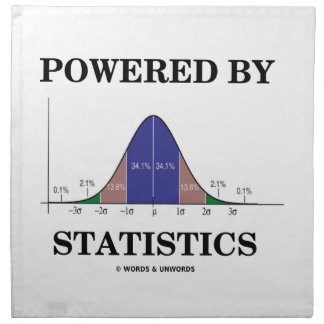 Powered By Statistics (Bell Curve Humor) Napkin