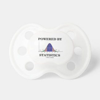 Powered By Statistics (Bell Curve Humor) Pacifier