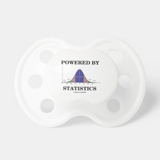 Powered By Statistics (Bell Curve Humor) Pacifiers