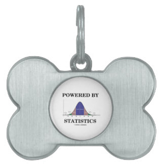 Powered By Statistics (Bell Curve Humor) Pet Name Tag