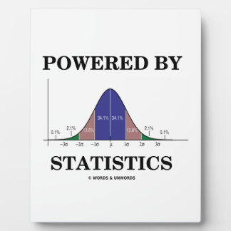 Powered By Statistics (Bell Curve Humor) Plaque