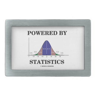 Powered By Statistics (Bell Curve Humor) Rectangular Belt Buckle