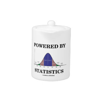 Powered By Statistics (Bell Curve Humor) Teapot