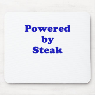 Powered by Steak Mouse Pad