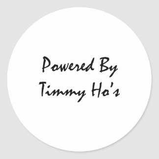 Powered by tims classic round sticker