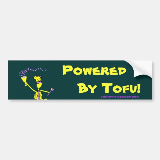 Powered By Tofu Bumper Sticker