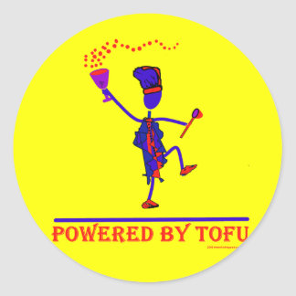 Powered By Tofu Classic Round Sticker
