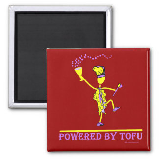Powered By Tofu 2 Inch Square Magnet