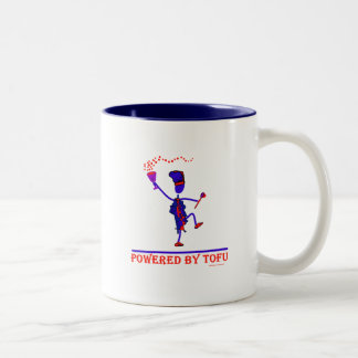 Powered By Tofu Two-Tone Coffee Mug