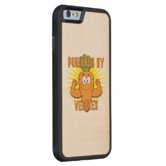 Powered by Veggies Carved Maple iPhone 6 Bumper Case