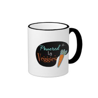 Powered by Veggies Ringer Coffee Mug