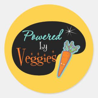 Powered by Veggies Round Sticker