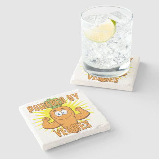 Powered by Veggies Stone Coaster