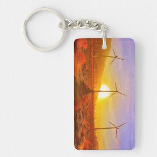 Powered by Wind Double-Sided Rectangular Acrylic Keychain