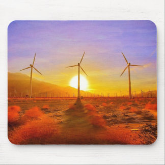 Powered by Wind Mouse Pad