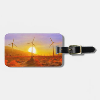 Powered by Wind Tag For Luggage