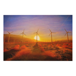 Powered by Wind Wood Canvas