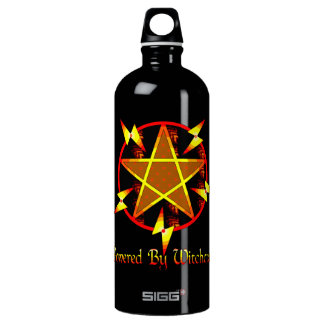 Powered By Witchcraft Aluminum Water Bottle
