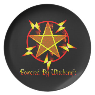 Powered By Witchcraft Melamine Plate
