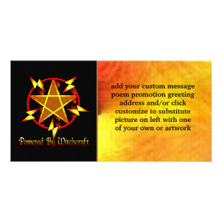 Powered By Witchcraft Personalized Photo Card