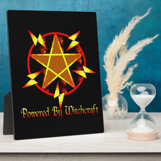Powered By Witchcraft Photo Plaque