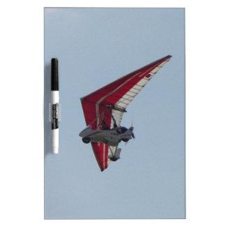 Powered hang glider dry erase whiteboard
