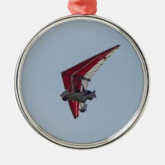 Powered hang glider metal ornament