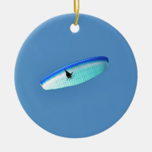 Powered Paraglider Ceramic Ornament