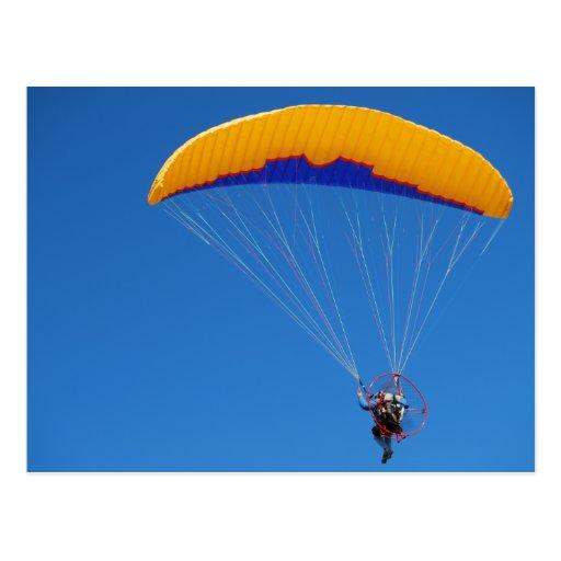 Powered Paraglider Postcard