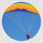 Powered Paraglider Round Sticker