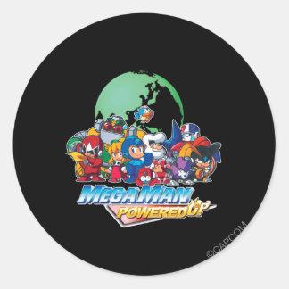 Powered Up World Classic Round Sticker