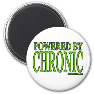 PoweredByChronic 2 Inch Round Magnet