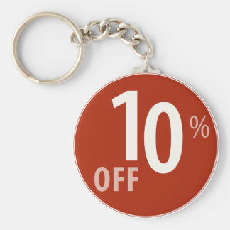 Powerful 10% OFF SALE Sign Keychain