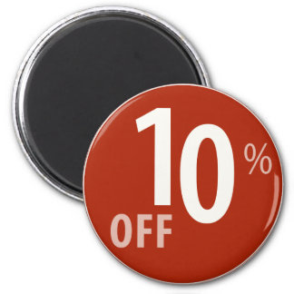 Powerful 10% OFF SALE Sign - Magnets