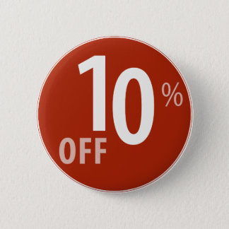 Powerful 10% OFF SALE Sign Pinback Button