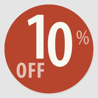 Powerful 10% OFF SALE Sign - Sticker