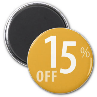 Powerful 15% OFF SALE Sign - Magnets