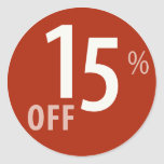 Powerful 15% OFF SALE Sign - Sticker