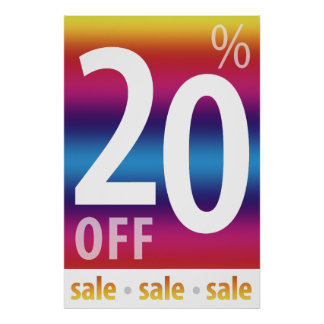Powerful 20% OFF SALE Sign | Colorful