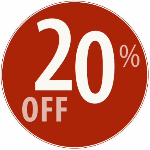 Powerful 20% OFF SALE Sign - Ornament Photo Sculpture Ornament