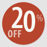 Powerful 20% OFF SALE Sign - Sticker